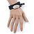 Black Leather Feather Wrap Bracelet (Silver Tone) - Adjustable - One size fits all - view 3