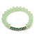 Light Green Mountain Crystal and Swarovski Elements Stretch Bracelet - Up to 20cm Length