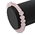 Light Pink Mountain Crystal and Swarovski Elements Stretch Bracelet - Up to 20cm Length - view 2