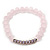 Light Pink Mountain Crystal and Swarovski Elements Stretch Bracelet - Up to 20cm Length - view 6
