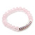 Light Pink Mountain Crystal and Swarovski Elements Stretch Bracelet - Up to 20cm Length - view 8