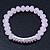Light Pink Mountain Crystal and Swarovski Elements Stretch Bracelet - Up to 20cm Length