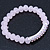 Light Pink Mountain Crystal and Swarovski Elements Stretch Bracelet - Up to 20cm Length - view 3