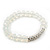 White Mountain Crystal and Swarovski Elements Stretch Bracelet - Up to 20cm Length - view 6