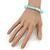 Light Blue Mountain Crystal and Swarovski Elements Stretch Bracelet - Up to 20cm Length - view 4