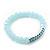 Light Blue Mountain Crystal and Swarovski Elements Stretch Bracelet - Up to 20cm Length - view 5