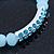 Light Blue Mountain Crystal and Swarovski Elements Stretch Bracelet - Up to 20cm Length - view 3
