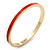 Thin Red Enamel 'TAKE HEART' Slip-On Bangle Bracelet In Gold Plating - 18cm Length