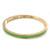 Thin Mint Green Enamel 'MINT CONDITION' Slip-On Bangle Bracelet In Gold Plating - 18cm Length - view 3