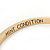 Thin Mint Green Enamel 'MINT CONDITION' Slip-On Bangle Bracelet In Gold Plating - 18cm Length - view 2