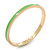 Thin Mint Green Enamel 'MINT CONDITION' Slip-On Bangle Bracelet In Gold Plating - 18cm Length