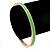 Thin Mint Green Enamel 'MINT CONDITION' Slip-On Bangle Bracelet In Gold Plating - 18cm Length - view 4