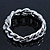Glamorous Chunky Rhodium Plated Swarovski Elements Crystal Encrusted Chain Link Bracelet - 18cm Length - view 9