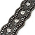 Wide Gun Metal Mesh Chain Structured Bracelet With Clear Crystals - 17cm (9cm Extension) - view 5