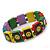 'Happy Face' Multicoloured Wood Flex Bracelet - view 2