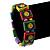 'Happy Face' Multicoloured Wood Flex Bracelet - view 3