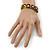 'Happy Face' Multicoloured Wood Flex Bracelet - view 4