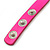 Neon Pink Leather Style Crystal and Spike Studded Wrap Bracelet - Adjustable (One Size Fits All) - view 5