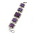 Vintage Amethyst Square Ceramic Etched Bracelet With Toggle Clasp -18cm Length/ 2cm Extension - view 9