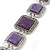 Vintage Amethyst Square Ceramic Etched Bracelet With Toggle Clasp -18cm Length/ 2cm Extension - view 5