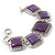 Vintage Amethyst Square Ceramic Etched Bracelet With Toggle Clasp -18cm Length/ 2cm Extension - view 2