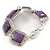 Vintage Amethyst Square Ceramic Etched Bracelet With Toggle Clasp -18cm Length/ 2cm Extension - view 7
