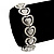 Vintage 'Heart' Flex Bracelet In Silver Plating - up to 19cm Length