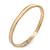 Thin Magnolia Enamel 'Heart Of Gold' Slip-On Bangle Bracelet In Gold Plating - 18cm Length