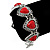 Vintage Inspired 'Hearts' With Red Ceramic Stones Bracelet With T-Bar Closure In Burn Silver Metal - 18cm Length - view 6