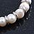 Freshwater Pearl Swarovski Crystal 'Heart' Charm Flex Bracelet In Rhodium Plating - 18cm Length - view 6