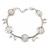 Matt Light Silver Tone Butterfly, Freshwater Pearl Chain Bracelet - 17cm L/ 3cm Ext