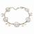 Matt Light Silver Tone Butterfly, Freshwater Pearl Chain Bracelet - 17cm L/ 3cm Ext - view 7