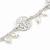 Matt Light Silver Tone Butterfly, Freshwater Pearl Chain Bracelet - 17cm L/ 3cm Ext - view 5
