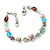 Vintage Inspired Multicoloured Enamel, Crystal Flower, Freshwater Pearl, Glass Bead Bracelet In Silver Tone - 16cm Length/ 4cm Extension - view 7