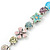 Vintage Inspired Multicoloured Enamel, Crystal Flower, Freshwater Pearl, Glass Bead Bracelet In Silver Tone - 16cm Length/ 4cm Extension - view 5