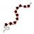 Romantic Red Rose Bracelet In Rhodium Plating - 18cm Length/ 6cm Extension - view 6