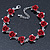 Romantic Red Rose Bracelet In Rhodium Plating - 18cm Length/ 6cm Extension - view 3