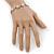 2 Tone 'Daisy' Bracelet (Silver Tone/ Gold Tone) - 20cm Length/ 6cm Extension - view 2