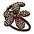 Dark Cappuccino Flower Copper Wire Flex Bracelet - view 10