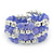 Lavender Ceramic & Silver Tone Acrylic Bead Coiled Flex Bracelet - Adjustable - view 2