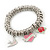 PINK COOKIE IN PURSE Hearts, Rose, Swallow Charm Round Link Flex Bracelet In Rhodium Plating - 17cm L (For Small Wrist) - view 4
