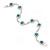 Teal Blue/ Clear Swarovski Crystal Floral Bracelet In Rhodium Plated Metal - 17cm L - view 5