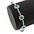 Teal Blue/ Clear Swarovski Crystal Floral Bracelet In Rhodium Plated Metal - 17cm L - view 3