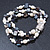 3 Strand Freshwater Pearl, Slate Black Shell Nugget Flex Bracelet - 20cm L - view 6