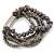 Multistrand Grey Semiprecious Stone, Metallic Silver Glass Bead Flex Bracelet - 19cm L - view 5