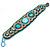Handmade Boho Style Beaded, Shell Wristband Bracelet (Blue, Gold, Antique White) - 18cm L