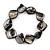 Black Shell Nugget Flex Bracelet - 18cm L