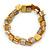 Antique Yellow Shell Nugget Stretch Bracelet - 17cm L
