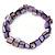 Purple Shell Nugget Stretch Bracelet - 17cm L