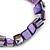 Purple Shell Nugget Stretch Bracelet - 17cm L - view 2